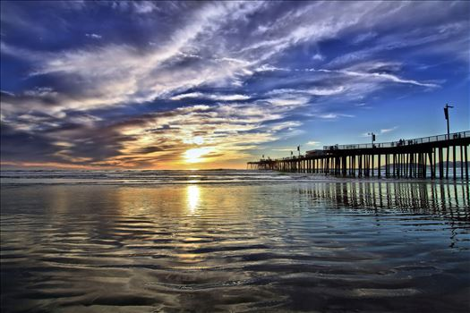 Pismo Pier Sunset by Emotions Photography