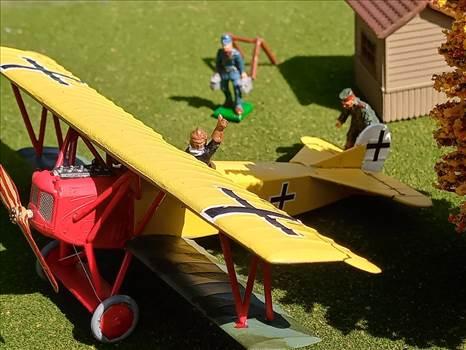 German, Fokker D.VII, jasta 11, 1918, 172, revell, plastic model, world war 1 by ScottUehl