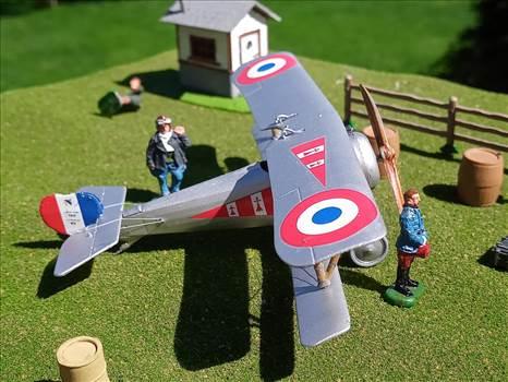 1/72 scale, Roden, Nieuport 24bis, SPA 97, plastic model, France, World War One, Dark Angel by ScottUehl