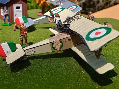 Italian, Nieuport 11, 80 Squadraglia, Sergente Alvaro Leonardi, Renwal, 1/72 scale, plastic model, world war one by ScottUehl