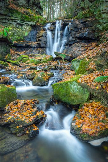 Autumnal Wharnley Burn Waterfall by ArtyAnge Photography