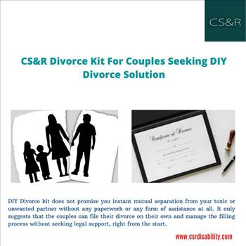 CS&R Divorce Kit for Couples Seeking DIY Divorce Solution  by csrdisability