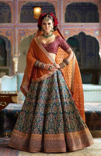 Shop online for designer bridal lehengas, Indian wedding lehenga choli, Trending lehenga choline and more from ethincplus.in. Visit our Stunning Collection of Traditional Indian Clothing Collection. Worldwide Shipping, India Cash on Delivery.  Contact U