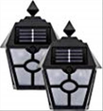 Sogrand Solar Deck Post Lights Outdoor Garage Door Lights Step Stair Light Waterproof Decorative Black Wall Lamp Fence Decorations Warm White LED 2018 of The   Day for Walkway Path 2Pack  solar fence post lights solar step lights solar stair lights