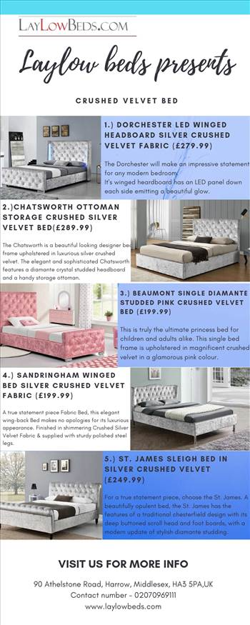Crushed Velvet Bed UK Info.jpg by Laylow Beds