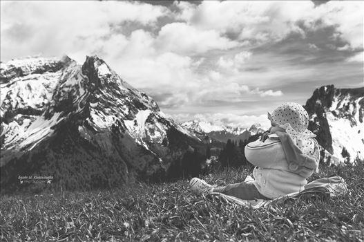 Baby in Alps -