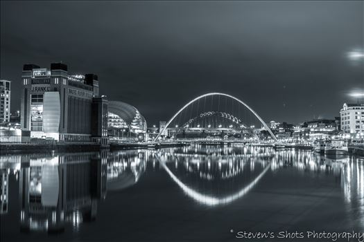 Millennium Bridge and Tyne Bridge by Steven's Shots Photography
