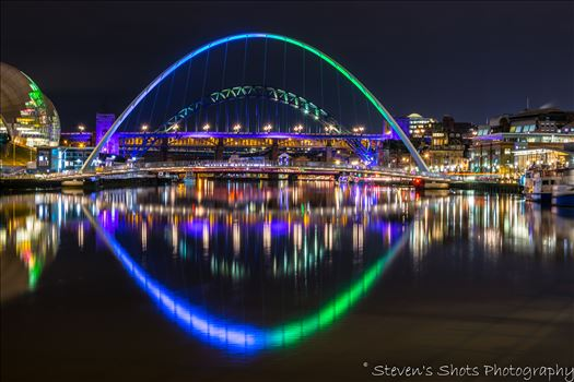 Colour millenium bridge and tyne bridge 6.3.18.jpg by Steven's Shots Photography