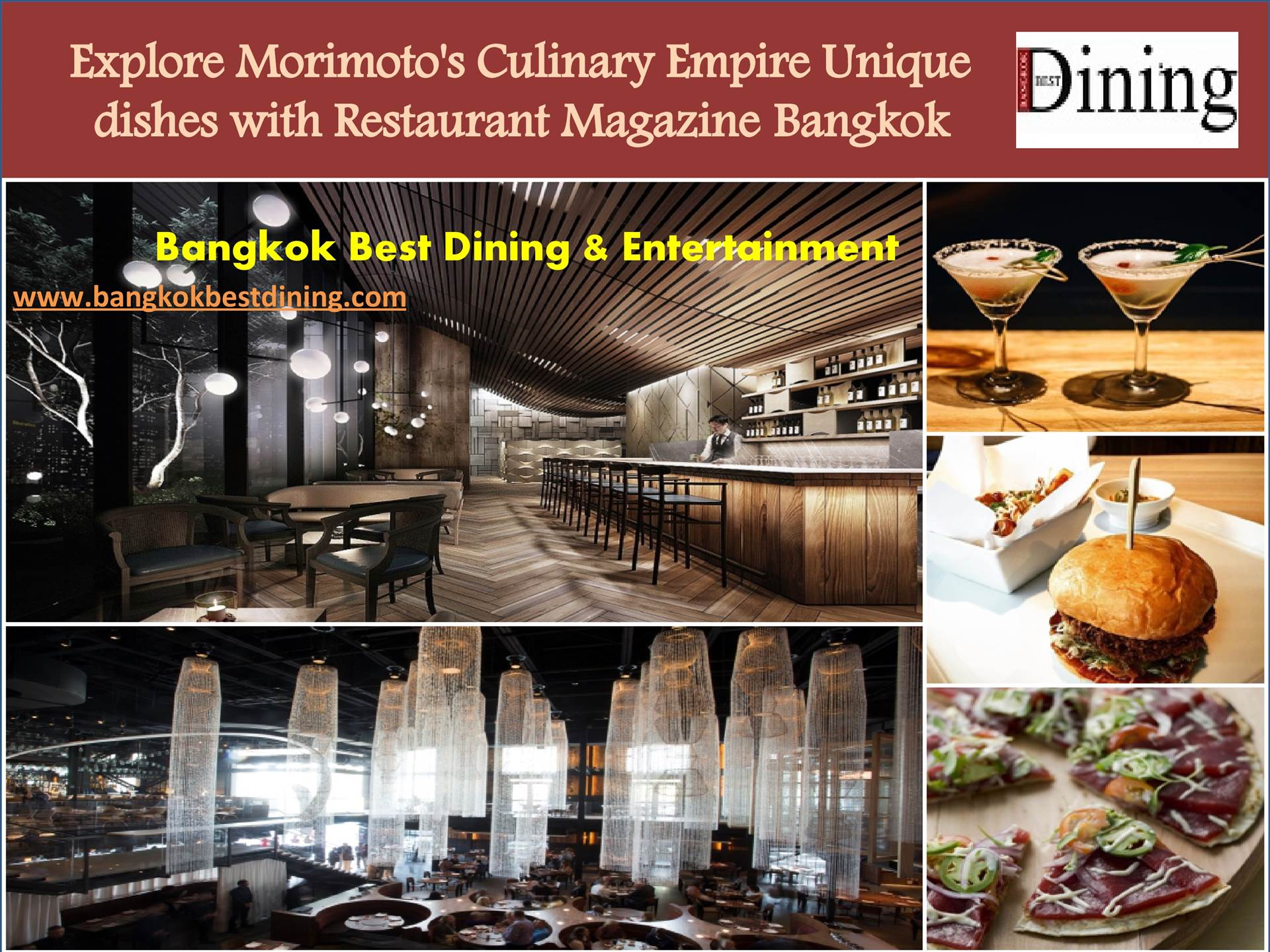 Explore Morimoto's Culinary Empire Unique dishes with Restaurant Magazine Bangkok  by bangkokbestdining