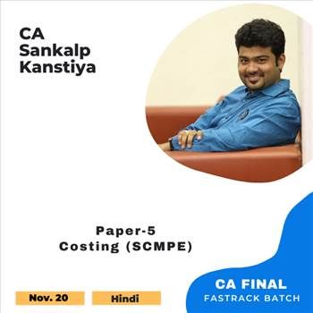 Best CA Final Costing SCMPE Pendrive Classes by CA Sankalp Kanstiya - Coursetrail by coursetrail