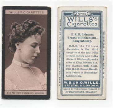 Wills European Royalty #62 Princess Ernest CC0108.jpg by whitetaylor
