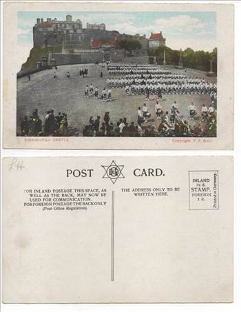 Edinburgh Castle Halftone Vintage Postcard F Frankel & Co 1900s PW030.jpg by whitetaylor