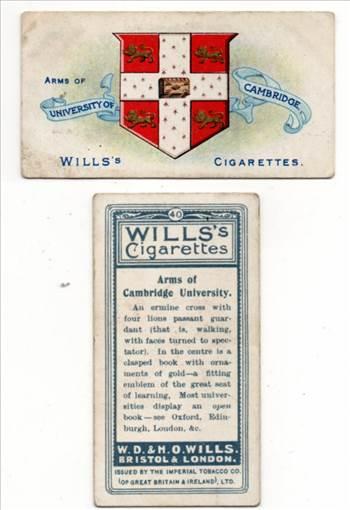 Wills #40 Arms Of Cambridge University CC0232.jpg by whitetaylor