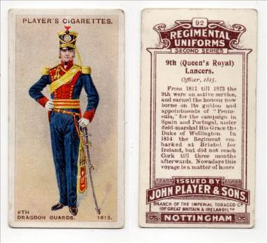 Players Regimental Uniform #92 9th Queens Royal Lancers CC0160.jpg by whitetaylor