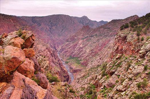 The Royal Gorge Canyon near Canon City, Colorado. by Tumbleweed Express