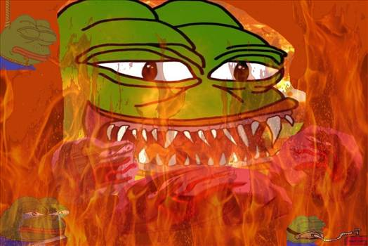 Rare Fire Pepe by xxXMemeLord420Xxx