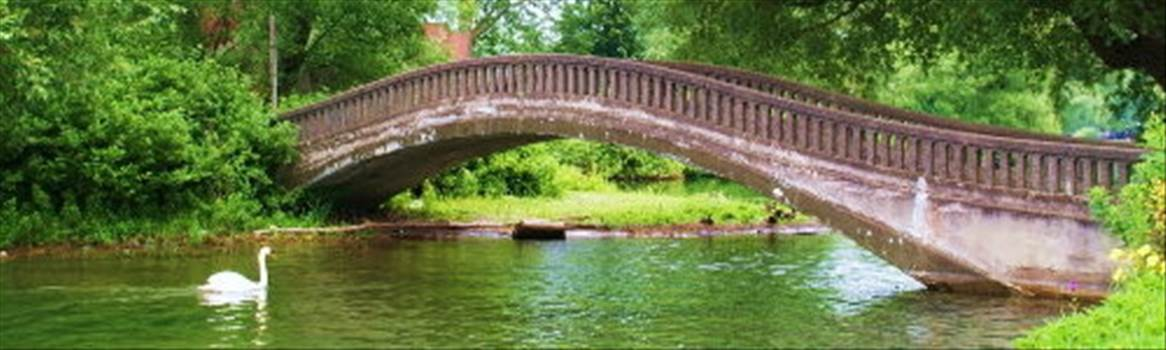 mini pond with bridge.jpg by CraftyQueen