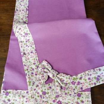 Handmade Tablecloth With Two Bows At The Diagonal Corners.jpg by Labelle21
