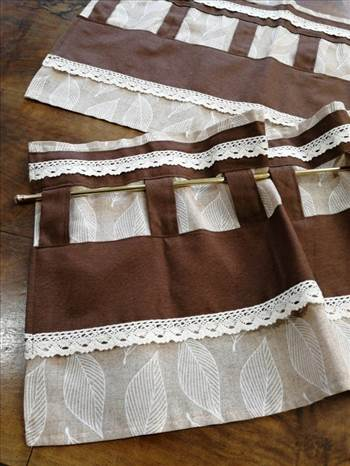 Hand Made Valances In Patterned Fabric.jpg by Labelle21