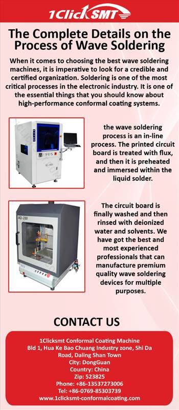 Wave Soldering Machine – The Complete Details on the Process of Wave Soldering by 1clicksmtconformal
