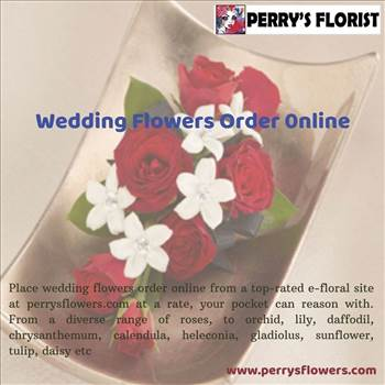 Wedding flowers order online by Perrysflowers