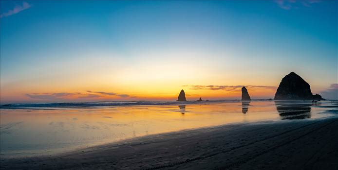 Haystack Rock Cannon Beach Oregon panorama 11MB.jpg by travelphotographer65