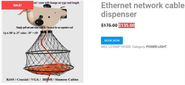 Ethernet network cable dispenser by lightcastretractablereels
