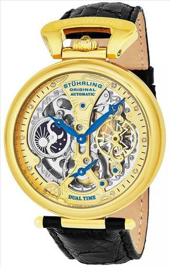 Stuhrling Original Emperor's Grand Dual Time Automatic 127A2.333519 Men's Watch.jpg by citywatchesnz