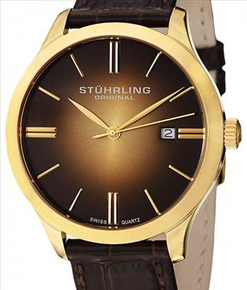 Stuhrling Original Classic Cuvette II Swiss Quartz 490.3335K31 Mens Watch.jpg by citywatchesnz