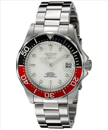 Invicta Automatic Pro Diver 200M Silver Tone Dial Mens Watch.jpg by citywatchesnz