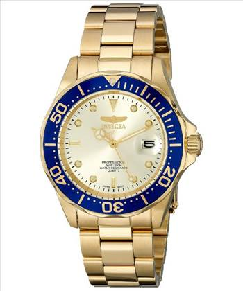 Invicta Pro Diver Quartz Gold Ion Plated 200M 14124 Mens Watch.jpg by citywatchesnz