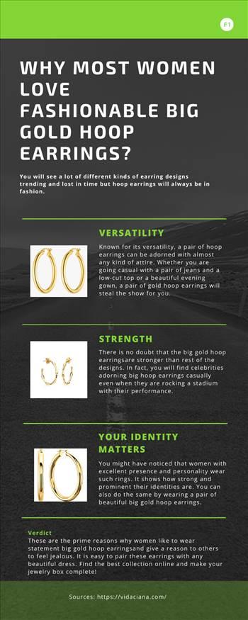 Why Most Women Love Fashionable Big Gold Hoop Earrings by Vidacianajewelry