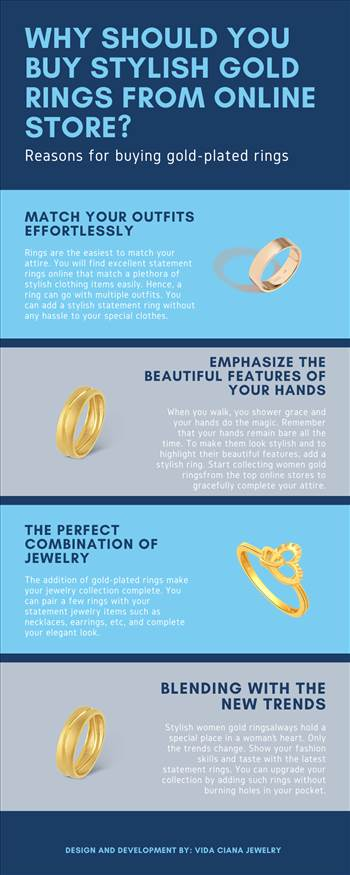 Why Should You Buy Stylish Gold Rings from Online Store? by Vidacianajewelry