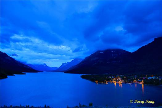 Dawn color Waterton Lake, Canada 06 2015  4萬丈红泉落, 暮色顯蒼茫.jpg by WPC-162