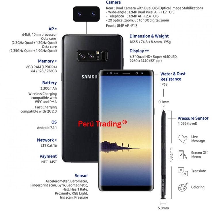 Samsung Galaxy Note 8 Mercado Libre