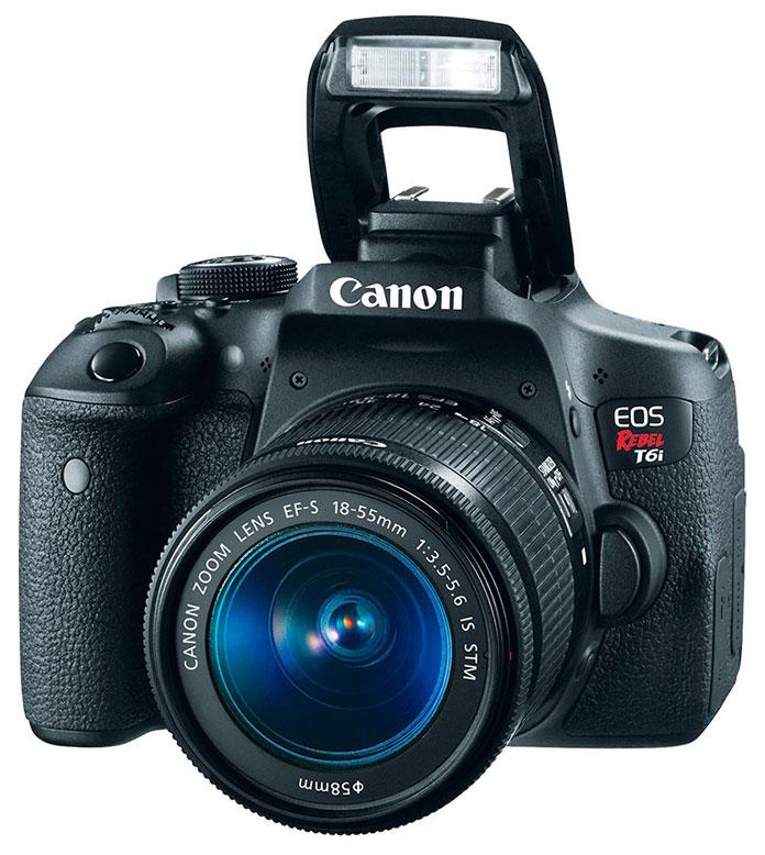 Cámara Canon T6i + Lente 18-55mm