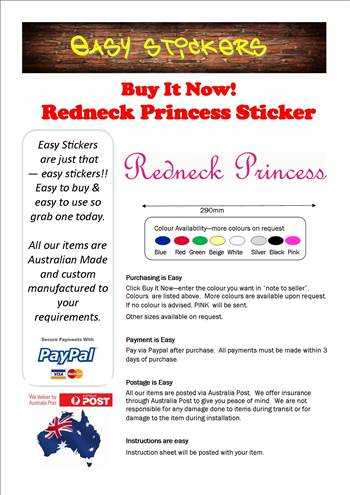 Ebay Template 290mm redneck princess.jpg by easystickers