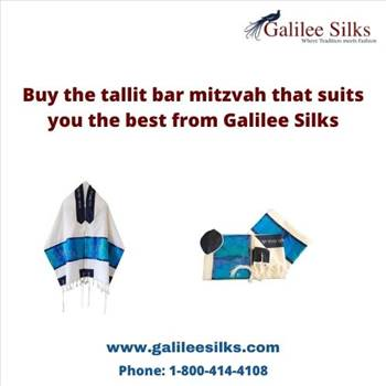 Buy the tallit bar mitzvah that suits you the best from Galilee Silks by amramrafi
