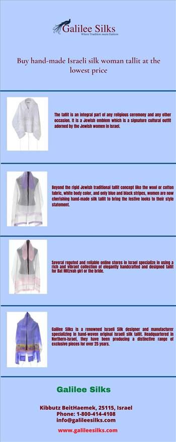 Buy hand-made Israeli silk woman tallit at the lowest price by amramrafi