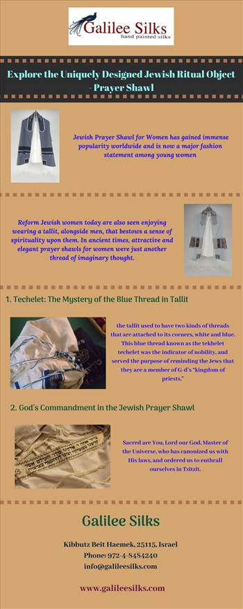 Explore the Uniquely Designed Jewish Ritual Object - Prayer Shawl.jpg - The elegant Jewish women tallit was just another thread of imaginary thought. Know how they evolved into unique pieces and gained significant importance. For more details, visit this link: https://bit.ly/2ARIlpP