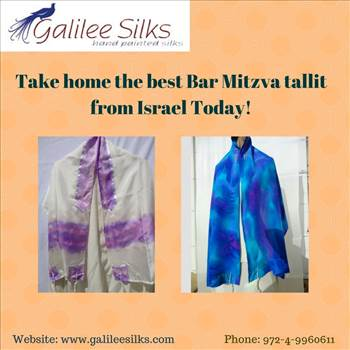 Take home the best Bar Mitzva tallit from Israel Today!.jpg - The best Bar Mitzva tallit from Israel that are worth a buy are here. Tallit for men at Galilee Silks are hand-made and hand-printed. For more details, visit this website: http://www.123articleonline.com/articles/1040899/take-home-the-best-bar-mitzva-tall