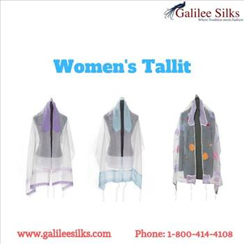 Women\u0027s Tallit - Well, there was a time when women weren't allowed to wear tallits. For more details, visit: https://www.galileesilks.com/collections/womens-tallit-1
