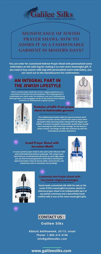 Significance of Jewish Prayer Shawl: How to adorn it as a fashionable garment in modern days? by amramrafi