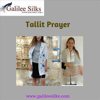 tallit prayer.gif - The best Jewish Tallits are made from pure fabric. Only reliable Judaica stores will give you the best. We are Galilee Silks, and we hand paint and tailor each and every tallit you love. Feel connected to God in our colorful tallits. For more details, vis