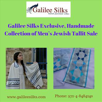 Galilee Silks Exclusive, Handmade Collection of Men's Jewish Tallit Sale.jpg by amramrafi
