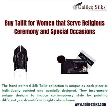 Buy Tallit for Women that Serve Religious Ceremony and Special Occasions by amramrafi