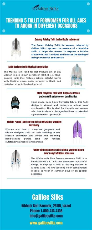 Trending 5 Tallit for Women for all Ages to Adorn in Different Occasions by amramrafi
