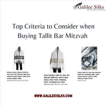 Top Criteria to Consider when Buying Tallit Bar Mitzvah  by amramrafi