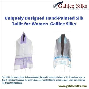 Uniquely Designed Hand-Painted Silk Tallit for Women| Galilee Silks by amramrafi