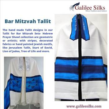 Bar mitzvah tallit - Our lives are definitely filled with various ceremonies. In the lives of Jewish boys, Bar Mitzvah is definitely one of the most significant ceremonies. For more details, visit: https://www.galileesilks.com/collections/bar-mitzvah-tallit